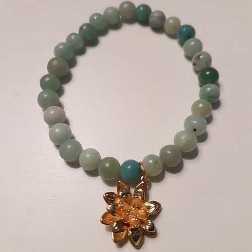 Amazonite Healing Bracelet for both Heart & Throat Chakras